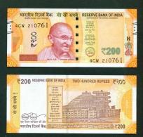 INDIA  -  2017  200 Rupees  UNC  Banknote - India