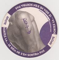 Sous-bock Coaster -Capote Sida Gay Homo Sexe Homme -Kpote Sortez Sida Sortira Pas -Syndicat National Entreprises Gaies - Sous-bocks