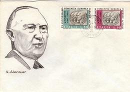 I+ Italien 1971 Mi 1333-34 Konrad Adenauer (UNIKAT / ÙNICO / PIÉCE UNIQUE) - 1946-.. République