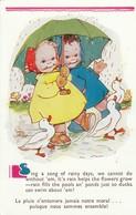 Illustrateur : ATWELL M.L. : ( La Pluie N'entamera Jamais Notre Moral..... ) - Attwell, M. L.