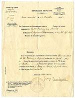 CONSEIL DE GUERRE DE LA 34 éme DIVISION  - DOCUMENT OCT 1915  GOUY EN ARTOIS 62  -  JUGEMENT DE 3 MILITAIRES - 1914-18