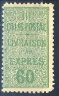 Pacchi 1918-23 N. 31 C. 60 Verde M Cat. € 95 - Colis Postaux