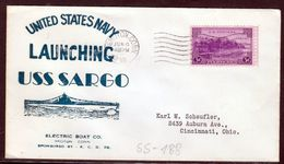"""US Navy, USS""""SARGO"""" (SS-188 ) Launched 1938, Look Scan, RARE !! 15.3-03 - Sous-marins"""