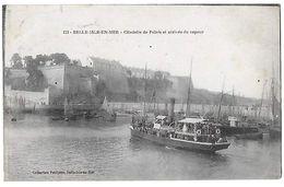 56 - BELLE ISLE EN MER - Arrivée Du Vapeur Au Port   N - Belle Ile En Mer