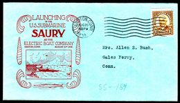 """US Navy, USS""""SAURY"""" (SS-189 ) Launching 1938, Look Scan, RARE !! 15.3-05 - Sous-marins"""