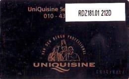 Telefoonkaart  LANDIS&GYR  NEDERLAND * RDZ.181.01  212d * UniQuisine Service Centrum * Pays Bas * TK * ONGEBRUIKT *  - Nederland
