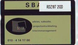 Telefoonkaart  LANDIS&GYR  NEDERLAND * RDZ.187  212d * SBAW Rotterdam * Pays Bas * TK * ONGEBRUIKT * MINT - Privé