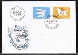 CEPT 1995 CH MI 1552-53 SWITZERLAND FDC - Europa-CEPT