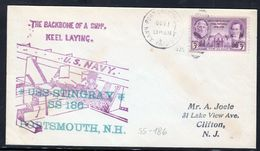 """US Navy, USS""""STINGRAY"""" (SS-186 ) Keel Laid 1936, Look Scan, RARE !! 15.3-02 - Sous-marins"""