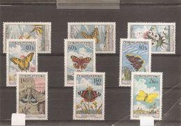 Papillons ( 1184/1192 XXX -MNh- De Tchécoslovaquie) - Farfalle
