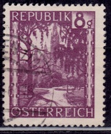 Austria, 1946, City Hall Park, 8g, Sc#483, Used - 1945-.... 2nd Republic