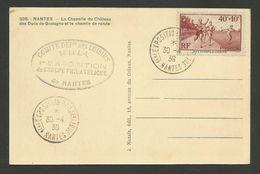 NANTES / 1ère Exposition Philatélique 30.04.1939 / Carte Postale Concordante - Marcophilie (Lettres)