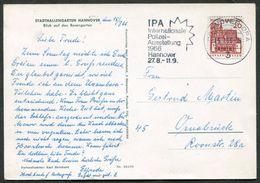 Germany 1966 Hannover IPA Ausstellung Polizei Police Exhibition Postcard Slogan Machine Cancel Werbestempel Deutschland - Polizia – Gendarmeria