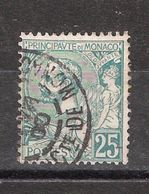 MONACO 1891, Prince Albert 1er , Yvert N° 16, 25 C Vert  , Obl ,TB Cote 40 E - Monaco