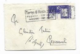 FRANCOBOLLO LIRE 25 LA TELEVISIONE IN ITALIA  1954 SU BUSTA CM.11X7,5 - 6. 1946-.. Republic