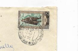 FRANCOBOLLO LIRE 25 MOSTRA DI LUCA SIGNORELLI   1953  SU BUSTA - 1946-.. Republiek