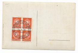QUARTINA 2  CENTESIMI 1938 SU CARTOLINA - 1900-44 Victor Emmanuel III.