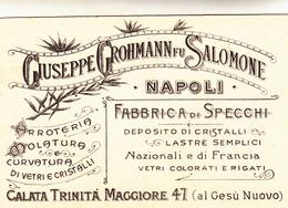 Giuseppe Grohmann Fu Salomone. Napoli, Fabbrica Di Specchi. Testatina Pubblicitaria Inizio 900 - Negozi
