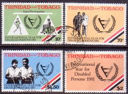 TRINIDAD & TOBAGO 1981 SG #581-84 Compl.set Used Int.Year For Disabled Persons - Trinidad & Tobago (1962-...)