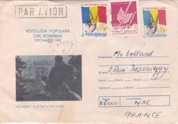 """ROUMANIE  : Entier Postal  """" Révolution Populaire De Décembre 1989 """" Avec Complément - Marcofilia"""