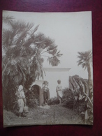 PHOTO ALGERIE Vers 1905 MARABOUT à La BOUZAREAH Banlieu Ouest D'Alger 19,5 Cm X 25,2 Cm - Africa