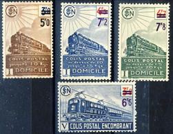 Pacchi 1945 Y&T Serie N. 221B-223B (senza Filigrana) E 229A (con Filigrana) OG MNH Cat. € 207 - Neufs