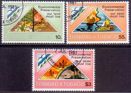 TRINIDAD & TOBAGO 1981 SG #585-87 Compl.set Used Environmental Preservation - Trinidad & Tobago (1962-...)