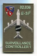 X015 PATCH AIR AVIATION BOEING AWACS 36° ESCADRE DE DETECTION AEROPORTEE E.3F 2E Escadron AVORD 02.036 - Ecussons Tissu
