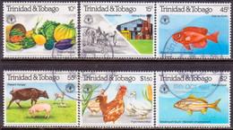 TRINIDAD & TOBAGO 1981 SG #589-94 Compl.set Used World Food Day - Trinidad & Tobago (1962-...)