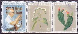 TRINIDAD & TOBAGO 1982 SG #600-02 Compl.set Used Pharmaceutical Conference - Trinidad & Tobago (1962-...)