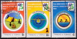 TRINIDAD & TOBAGO 1982 SG #603-05 Compl.set Used 75th Anniv Boy Scout Movement - Trinidad & Tobago (1962-...)
