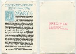 APPARIZIONE DELLA MADONNA  - (VAT.2646 - 10...) - Religione & Esoterismo