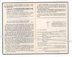 LEONIE VAN DEN BUSSCHE ° HANDZAME 1885 + ELVERDINGE 1954 / RENÉ DEVROE - Images Religieuses