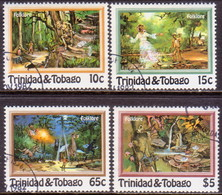 TRINIDAD & TOBAGO 1982 SG #609-12 Compl.set Used Folklore - Trinidad & Tobago (1962-...)