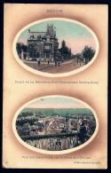 CPA ANCIENNE FRANCE- BETHUNE (62)- CARTE 2 VUES- PLACE REPUBLIQUE ET BD. V.HUGO  ANIMÉS + VUE DE LA TOUR DE L'EGLISE - Bethune