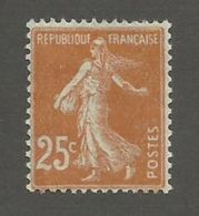 FRANCE - N°YT 235 NEUF* AVEC CHARNIERE - COTE YT : 0.15€ - 1927/31 - 1906-38 Sower - Cameo