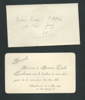 Chatellerault 5  / 035/ 1909 , F.P. Naissance De Marcelle Boulineau   -    Ab10202 - Naissance & Baptême