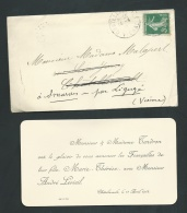Chatellerault     11 / 04 / 1912 , F.P.  Fiançailles De Marie Thérèse Tendron Avec Mr André Levieil    -    Ab10205 - Verloving