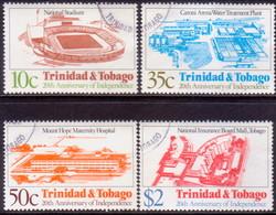 TRINIDAD & TOBAGO 1982 SG #618-21 Compl.set Used 20th Anniv Independence - Trinidad & Tobago (1962-...)