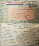 O) 1953 COSTA RICA, MAIL PLANE ABOUT TO LAND SCOTT AP8 35 CENTIMOS, VIA PAN AMERICAN WORLD AIRWAYS. BERSHAR, SANTA ANA - Costa Rica