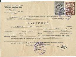 Macedonia Skopje - Verification And Tax Stamps RARE - Macedonia