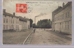 SERMAIZE - LES - BAINS . Rue Benard -- Les Ecoles . - Sermaize-les-Bains