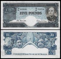 Australia 5 POUNDS ND 1954-1959 P 31 VF+ ( Australie ) - 1953-60