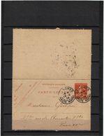 BR21A - CARTE LETTRE SEMEUSE CAMEE 10c DATE 343 LANGRES / PARIS 19/9/1914 - Entiers Postaux
