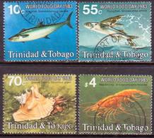TRINIDAD & TOBAGO 1983 SG #632-35 Compl.set Used World Food Day - Trinidad & Tobago (1962-...)