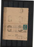 BR21A - 2 CARTES LETTRE SEMEUSE CAMEE 25c DATE 218 METZ / PARIS 15/8/1923 - Entiers Postaux