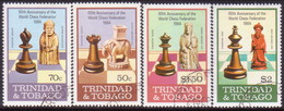 TRINIDAD & TOBAGO 1984 SG #652-55 Compl.set Used Chess - Trinidad & Tobago (1962-...)