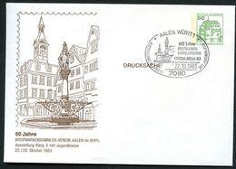 Bund PU113 D2/003 Privat-Umschlag MARKTBRUNNEN AALEN Sost.1983 - Altri