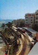 """D7495 """"STAZIONE DI PIAZZA MANIN-GENOVA - FERROVIA GENOVA-CASELLA - SCARTAMENTO RIDOTTO - APRILE 1984""""  CART NON SPED - Stazioni Con Treni"""