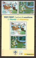 "ITALIA/ ITALY/ ITALIEN/ ITALIE -EUROPA  2007-"" A CENTENARY SCOUT -EUROPA-CEPT""- SERIE De 2 V. + HOJITA BLOQUE - 2007"
